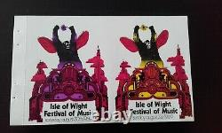 BOB DYLAN THE WHO rare Unused Tickets 1969 Isle Of Wight Festival Of Music MINT