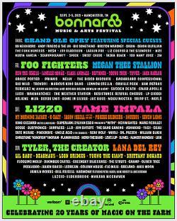 BONNAROO 2021 Music Festival 4-DAY GA Wristbands