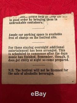 Bath Festival Ticket Stub 1970 Led Zeppelin/Ponk Floyd
