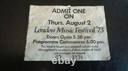 Black Sabbath Original Concert Ticket London Music Festival 2nd August 1973