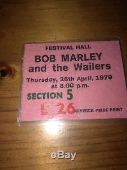 Bob Marley Ticket Stub 1979 Last Concert Festival Hall Melbourne