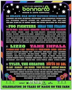 Bonnaroo 2021 Music Festival 4 Day GA Wristband