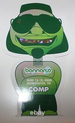 Bonnaroo Music & Arts Festival 2008 Die Cut Ticket Stub General Admission