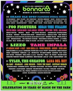 Bonnaroo Music & Arts Festival Ticket 2021 4-Day GA Pass/Writband Sept 2-5