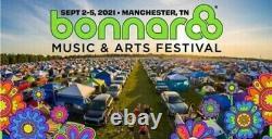 Bonnaroo Music Festival (2) GA-4 day tickets and (1) GA-4 day car camping pass
