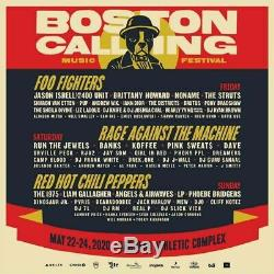 Boston Calling Music Festival 2 GA Three Day Passes