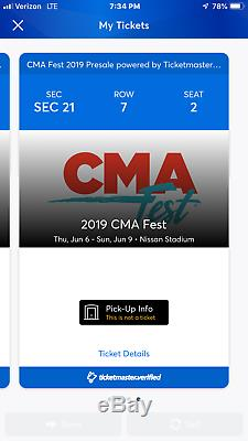 CMA Music Festival tickets