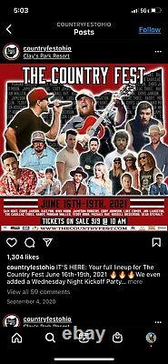 CountryFest Country Music Festival Tickets