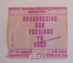 DEEP PURPLE TICKET CONCERT KOLN 1970 Pop Festival