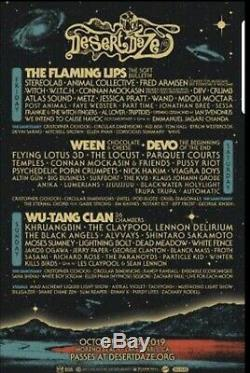 Desert Daze Music Festival (4) 3 Day Pass Tickets (October 11-13) Lake Perris