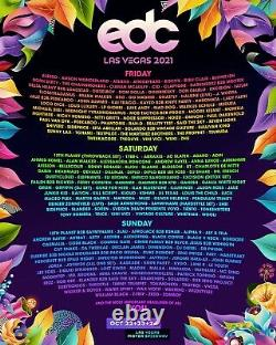EDC Electric Daisy Carnival Music Festival 3 Day GA Pass 2021 Las Vegas