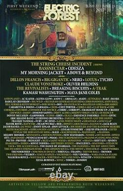 Electric Forest Music Festival 4 Day Weekend One Ticket / GA Wristband