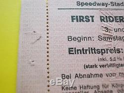 Entrance Ticket First Rider Open Air Festival 1977 Abbruch Stage Fire Rarity