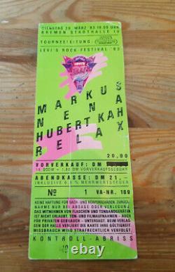 FAN Ticket Levi's Rock Festival'83 29.03 1983 MAMA CONCERTS / vollständig