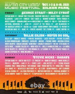 FRIDAY VIP Weekend 1 Tickets Austin City Limits Music Festival Wristband