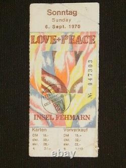 Fehmarn Love + Peace Festival 1970 3 Day Ticket Jimi Hendrix Ton Steine Scherben