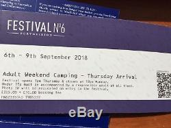 Festival No 6 Tickets x 2 THE THE headliners