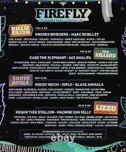 Firefly Music Festival Tickets 2021- Sunday