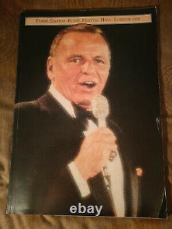 Frank Sinatra 1978 London Royal Festival Hall Brochure & Ticket Stubs