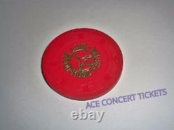 GOOSE LAKE 1970 MUSIC FESTIVAL CONCERT RED TICKET TOKEN POKER CHIP MC5 Bob Seger