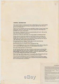 Genesis, Starship, Tom Petty, Devo 1978 Knebworth Festival Flyer & Ticket Stub