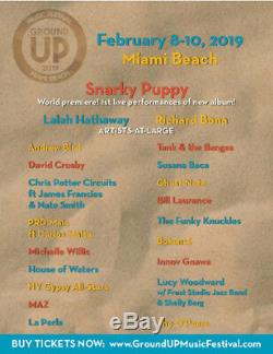 Ground Up Music Festival Tickets Sat 2/9/19 Two Premium Passes HALF PRICE
