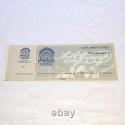 Guinness vintage 1982 unused ticket jazz festival cork opera house memorabilia