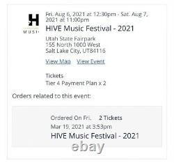 HIVE music festival POST MALONE SUICIDE BOYS 2 TICKETS BOTH DAYS