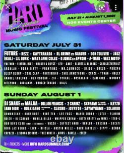 Hard Summer 2021 Music Festival Pass Wristband 2 Day GA
