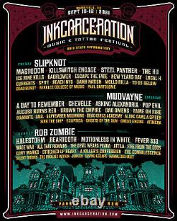 INKCARCERATION 2021 Music/Tattoo Festival two 3 day general admission passes