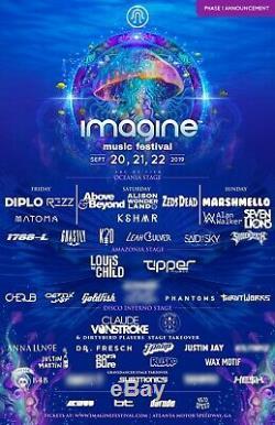 Imagine Music Festival 3 Day Pass Ga Tickets September 20 21 & 22 Atlanta Ga