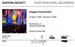 Imagine Music Festival VIP tickets (2) (transferrable)