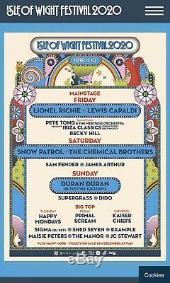 Isle Of Wight Festival 2020 Family Ticket -2 Adults + 2 Children Weekend Tickets