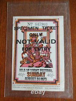 Isle Of Wight Rare Ticket Festival Sunday 1970 Jimi Hendrix Free Jethro Tull