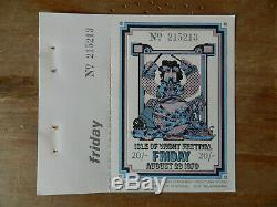 Isle of Wight Festival 1970 Friday ticket Taste (Rory Gallagher) Chicago