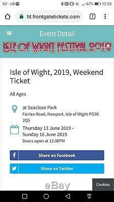 Isle of wight festival tickets 2019