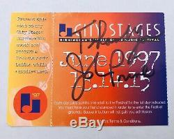 JOHN PRINE June 1997 SIGNED TICKET STUB Birmingham Music Concert Festival