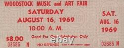 Janis Joplin / Grateful Dead 1969 Unused Woodstock Festival Ticket / Nmt 2 Mint