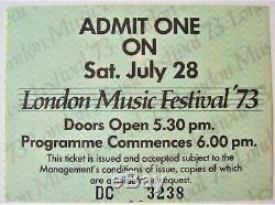 Judas Priest Budgie East Of Eden Nazareth Gig Ticket London Music Festival 1973
