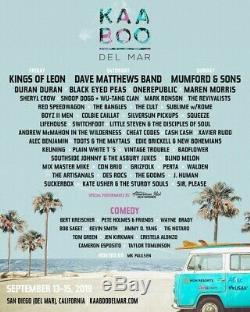 KAABOO Del Mar Music Festival 3-Day Tickets / September 13-15, 2019