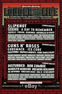 Louder Than Life Music Festival 3 Day Pass General Admission Tickets September