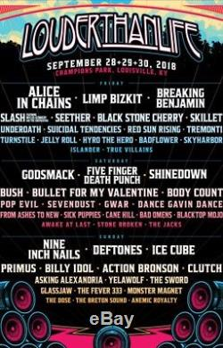 Louder Than Life Music Festival 3-Day tickets. Friday, Saturday, and Sunday