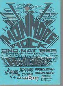 MONMORE ROCK 1 2Nd May 1982 TICKET UK 1982 Used Ticket For One Day Festival