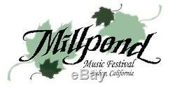 Millpond Music Festival Full Weekend Pass 9/20-9/22, 2019 4 Tickets