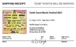 Ncmf North Coast music festival GA Saturday ticket Chicago September 4 tickets 2