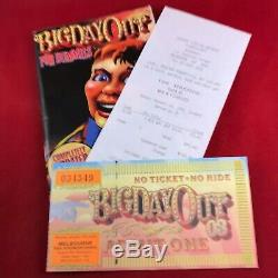 Near Mint Big Day Out 2003 Concert Ticket + Festival Guide + Original Receipt
