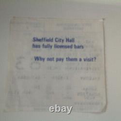 New Order, Billy Bragg, Rare Ticket Sheffield Anti Apartheid Festival 1986