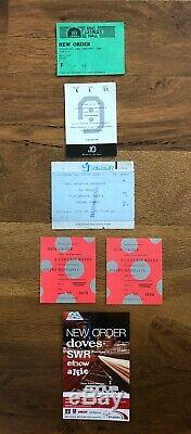 New Order ticket stubs to include Festival of the 10th summer with the Smiths