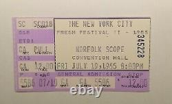New York City Fresh Festival II 1985 Norfolk Scope Ticket Stub (RARE) Rap Music