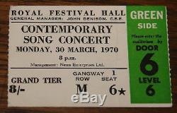 Nick Drake Uk Concert Tour Programme With Royal Festival Hall Ticket Sandy Denny